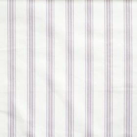 Eltham - Amethyst - White fabric with amethyst purple stripes