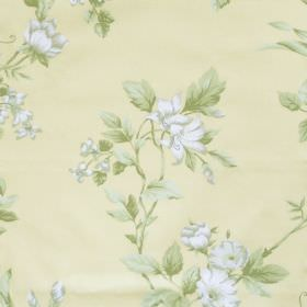 Applebury - Buttercup -  Buttercup yellow fabric with detailed floral impression