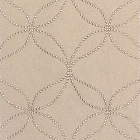 Verve - Stone - Stone sandy fabric with sandy dotted circles and wavy lines