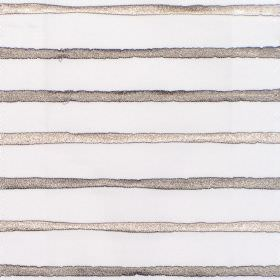 Calm - Stone - White fabric with horizontal stone grey stripes