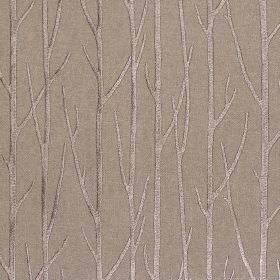 Enchant - Coffee - Coffee brown fabric with enchanting tree branches