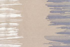 Serene - Sapphire - Sandy fabric with white and sapphire blue vertical bands of irregular brushstrokes