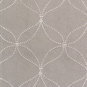 Verve - Silver - Silver grey fabric with white dotted circles and wavy lines