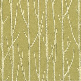 Enchant - Pistachio - Pistachio green fabric with enchanting tree branches