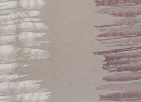 Serene - Grape - Grey fabric with white and grape purple vertical bands of irregular brushstrokes