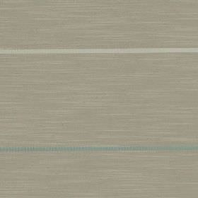 Tia - Chalk - Pale grey, steel grey and teal coloured polyester and polyester linen yarn blend fabric, made with thin horizontal stripes