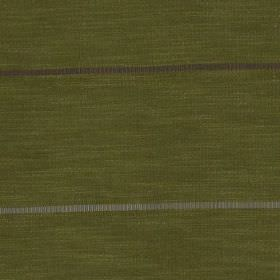 Tia - Lime - Thin horizontal stripes running across polyester and polyester linen yarn blend fabric made in olive green and grey shades