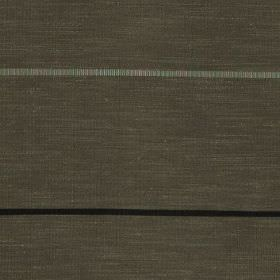 Tia - Mocha - Fabric made in black and two dark shades of grey from polyester and polyester linen yarn, with thin horizontal stripes