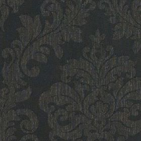 Venosa - Black - Two very dark shades of grey making up a large jacquard style pattern on fabric made from 100% polyester