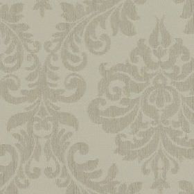 Venosa - Chalk - Fabric made from 100% polyester, featuring a large, elegant jacquard style pattern in two similar light shades of grey