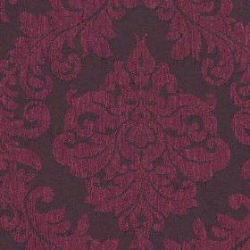 Venosa - Fuchsia - Bright violet coloured large jacquard style patterns on a dark indigo coloured 100% polyester fabric background