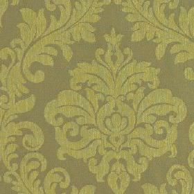 Venosa - Lime - Pale shades of green and khaki making up a 100% polyester fabric with large, elegant jacquard style patterns