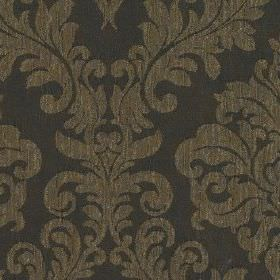 Venosa - Mocha - A dark brown-grey pattern of large, elegant jacquard style designs on 100% polyester fabric made in very dark blue-grey
