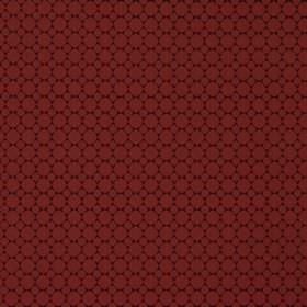 Cortona - Scarlet - A very dark 100% polyester fabric background behind a design of small, tightly spaced rows of circles in deep burgundy
