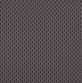 Vinci - Amethyst - Rows of very dark grey pointed ovals printed on 100% polyester fabric in a much paler shade of grey