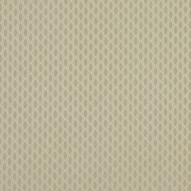 Vinci - Cashew - 100% polyester fabric in two similar shades of cream patterned with rows of regular, small ovals with points at each end