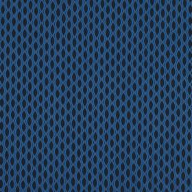 Vinci - Danube - Black and bright Royal blue coloured fabric made entirely from polyester, with small pointed ovals in a repeated pattern