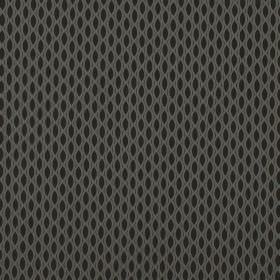 Vinci - Grey - Pointed ovals in black printed in neat lines between a light grey net-like design on fabric made entirely from polyester