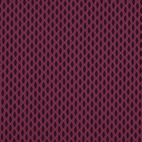 Vinci - Hollyhock - A net-like design creating a pattern of pointed ovals on 100% polyester fabric in black and bright fuschia pink