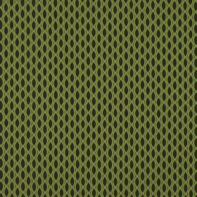 Vinci - Kiwi - A simple black and apple green design featuring pointed ovals and a pattern resembling a net on 100% polyester fabric