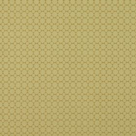 Cortona - Cortona - Gold coloured 100% polyester fabric behind a pattern of small tightly spaced light yellow circles in two different sizes