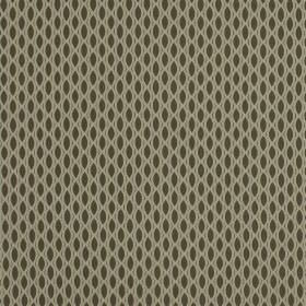 Vinci - Otter - Very dark grey-brown fabric made from 100% polyester, featuring a cream coloured pattern with a net-like design