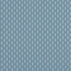 Vinci - Powder Blue - Fabric made from 100% polyester in two shades of powder blue, featuring a pattern of pointed ovals and a net-like desi
