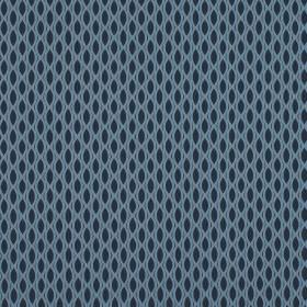Vinci - Wedgewood - A design of small pointed ovals arranged in rows on fabric made from 100% polyester in navy and baby shades of blue