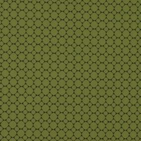 Cortona - Kiwi - 100% polyester fabric in black and apple green, patterned with small tightly spaced rows of circles in 2 different sizes