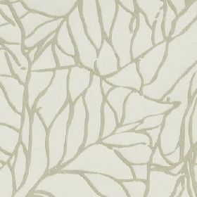 Whinny - Dove - Very pale grey-white coloured 100% polyester fabric, printed with a design of thin, random, light grey lines