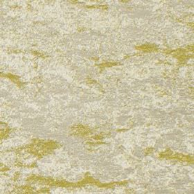 Birnam - Gold - Two similar light shades of grey making up a patchy, cloudy pattern oncreamy yellow cotton and polyester blend fabric