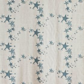 All Star - Gunmetal Blue - Star print fabric in light grey and shades of blue