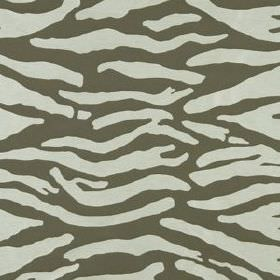 Abstract Zebra - Java - Pale grey sweeping lines arranged randomly over a battleship grey coloured polyacrylic and cotton blend fabric