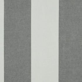 Hampton Stripe - Titanium - Simple, wide block stripes creating a vertical pattern on dark and light grey coloured fabric made from 100% lin
