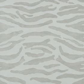 Abstract Zebra - Stone - Polyacrylic and cotton blend fabric made in two similar shades of grey, with subtle, random, sweeping lines