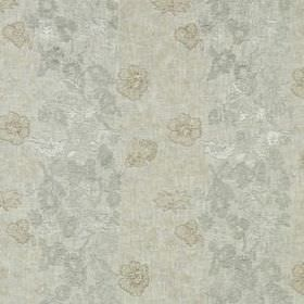 Marais Fleur - Ivory - Very subtle flowers scattered over linen, rayon and metallic fabric in various similar light shades of grey and beige