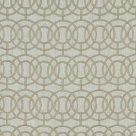 Crosby - Natural - Various different materials making up a fabric in two different shades of grey, with concentric, overlapping circles