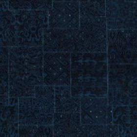 Karol Velvet - Indigo - Subtly patterned fabric blended from several different materials in a very deep, luxurious shade of midnight blue