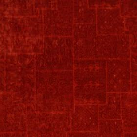 Karol Velvet - Vermillion - Luxurious scarlet coloured fabric blended from various different materials and finished with a very subtle patte