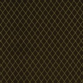 Romandie - Mink - Fabric blended from silk, cotton and acrylic, featuring a small, regular diamond pattern in khaki and dark brown-black