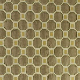 Animaru - Sterling - Dark brown, cream and light gold fabric made from several different materials, patterned with simple geometric shapes