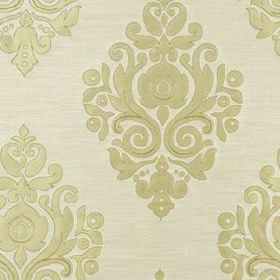 Nippon Frame - Travertine - 100% silk fabric made in cream and oyster colours, featuring elegant curving, swirling patterns