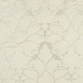 Blossom Frame - Ivory - Diamond white coloured fabric made from cotton and silk, covered with large, elegant patterns in classic oyster whit
