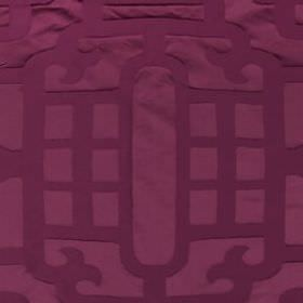 Silk Lantern - Magenta - Simple lines creating stylish patterns over fabric blended from cotton and silk in two similar rich shades of purpl