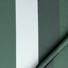 Monsieur - Neptune - Fabric made from graphite grey, white and dark green coloured cotton and silk, featuring simple block stripes