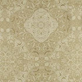 Vintage Vines - Honey - Intricate, detailed patterns covering silk and linen blend fabric in subtle cream and beige colours