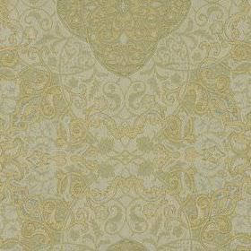 Vintage Vines - Ice - Very pale grey and cream colours creating an intricate, very detailed pattern on fabric blended from silk and linen