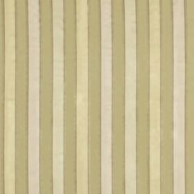 Bourbon Stripe - Alabaster - Simple beige, cream and off-white coloured stripes running at even intervals down 100% silk fabric