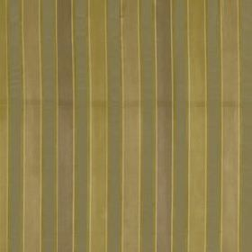 Bourbon Stripe - Bronze - Vertically striped 100% silk fabric featuring narrow, even bands of green-grey, light gold, beige and dove grey