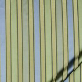 Bourbon Stripe - Pool - 100% silk fabric featuring a simple, narrow, regular vertical stripe design in light, fresh shades of blue and green